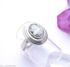 Markenlose Echtschmuck-Ringe aus Sterlingsilber mit Zirkon-Hauptstein