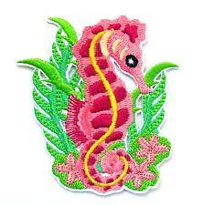 Seahorse Iron On Patch- Fish Kids Animal Underwater Badge Applique Sew
