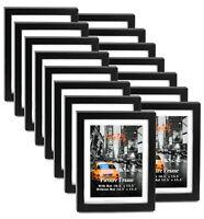 "Cavepop 11x14"" Black Wood Textured Picture Frames - Set of 15"