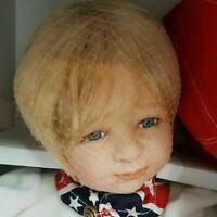 """""""Mikey's First Love"""" Porcelain Gustave Wolff Wimbledon Collection USA Flag Doll"""