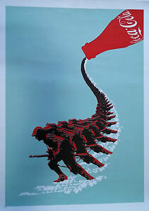 "Cuban Political Silkscreen Poster ""Coca Cola"" Cuba Art Serigraph Cartel"
