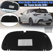 Front Engine Hood Insulation Pad Panel Black For Toyota Corolla 2019 2020