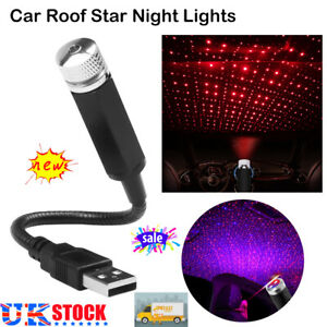 Car Interior Star USB LED Light Roof Room Atmosphere Starry Sky Lamp Projector