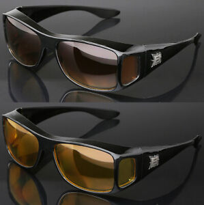 Fit Over Sunglasses with Side Shield Cover Over Prescription EyeGlasses