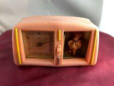 Rare Vintage Tichter Spinning Ballerina Television Music Box/Clock Works-Video