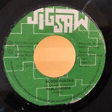 Reggae 45 PABLO MOSES Blood Dunzer JIGSAW VG+++ Jamaica