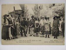 CPA TARJETA POSTAL ANTIGUA DIGNY 28 FÊTE DE LA TRINIDAD 1923 TANQUE DE MISERIA