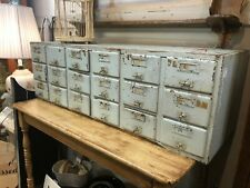 Vintage Library / Index Card Catalog Cabinet - 18 Drawer - Wood - Antique