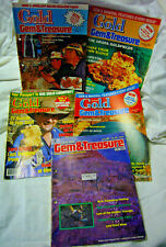 5 Australian Prospecting GOLD Gem & Treasure Magazines