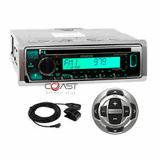 Kenwood CD BT USB Sirius Alexa Marine Boat Stereo Receiver w Remote KMR-D378BT