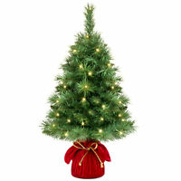 BCP 26in Pre-Lit Tabletop Christmas Tree w/ 35 Warm White Lights