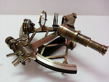 Nautical Sextant Antique vintage Heavy Brass Navigation Sextant in Antique 9""