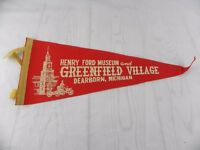 Vintage 1970's Henry Ford Museum and Greenfield Village Dearborn MI Felt Pennant