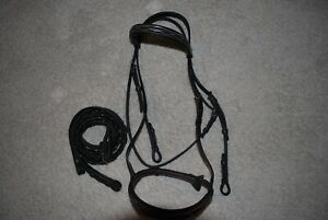 Dover Saddlery Suffolk English Bridle with Reins