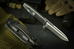 Extrema Ratio DEFENDER Stonewashed Blade/Black Handle. Made in Italy. Authentic.