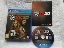 W2K20 DELUXE EDITION PS4 V.G.C. FAST POST ( sports/wrestling simulation game )