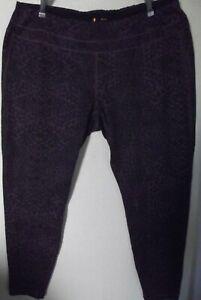 Lucy 3X Purple & Black Print Activewear Workout Yoga Leggings Pants xxxl 3xl