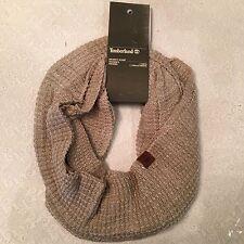 Timberland unisex wool blend warm brand new waffle knit infinity scarf beige