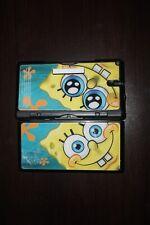 Nintendo DS Lite Black Spongebob Skin Handheld System Works GREAT