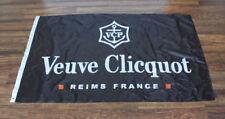 New Black Veuve Clicquot Flag advertising banner wine champagne store dealer bar