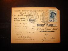Carte postale - Journée du timbre 1950 - 1er jour - GRENOBLE