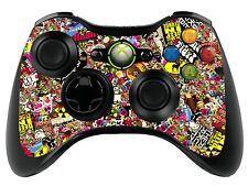 Sticker Bomb Xbox 360 Control Remoto controller/gamepad Skin / Cover / Vinilo Wrap xbr3