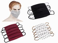 5 Stück Mund Nasenmaske 2-lagige Gesichtsmaske Wiederverwendbar Waschbar