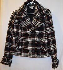 Full tilt womans large dressy coat  casual red black and white checkered