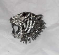 Hattie Carnegie design Pin / Brooch ~ Tiger ~RARE example of unsigned book piece