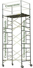 HEAVY DUTY SCAFFOLD ROLLING TOWER 5' X 7' X 15' STANDNG DECK HIGH WITH RAILING