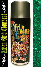 ROTH RATTLE BOMB CAN FLAKE - GANG GREEN FLAKE CHOPPER MOTORCYCLE PAINT ART