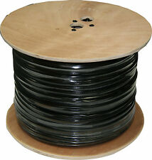 Rg59 Power Siamese Cable, 1000 ft. Spool, Black Color. Same Day Shipping