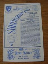 06/04/1963 Shrewsbury Town V Barnsley (resultados se indica en la puntuación de cuadrícula,/RS señaló)