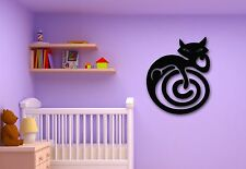 Wall Stickers Vinyl Decal Cat Animal Maze for Kids Room Pets Nursery (ig316)