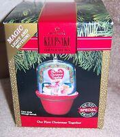 "HALLMARK KEEPSAKE CLUB ORNAMENT ""OUR FIRST CHRISTMAS TOGETHER"" 1991 LIGHTS & MOT"