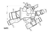 Termostato Fiat Punto 1.9 JTD Dal '99 -> 63 KW Originale Behr