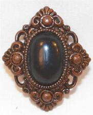 Black Stone Imitation Brass Button Plastic Victorian Look Vintage Jacket Dress