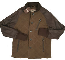 NEW Burton Mark XIII (13) Jacket!  L  Quilted Wool Body  Leather Arms  RARE