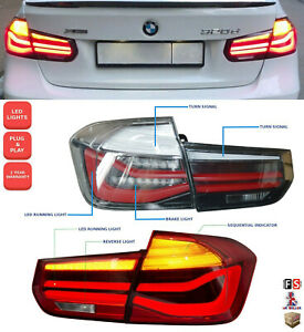 BMW 3 SERIES F30 F80 M3 F35 LED REAR LIGHTS SEQUENTIAL TAIL LAMPS CLEAR