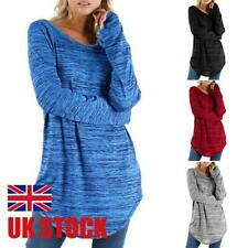 Plus Size Women Long Sleeve Baggy T-Shirt Ladies Loose Blouse Tops Tunic Casual