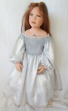 Zawieruszynski Rosalia Doll # 8/100 with Box Real Hair and Satin Dress #8/100
