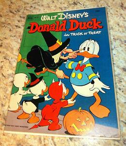 WALT DISNEY'S DONALD DUCK #26 (#1) TRICK OR TREAT 1st Print NOV 1952 VgFN Nice!