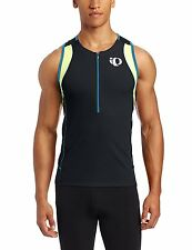 Pearl Izumi Mens Elite Inrcool Triathlon Singlet Size Small Blue Black Neon Zip*