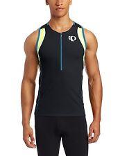 PEARL Izumi MENS Elite INRCOOL Triathlon SINGLET Size SMALL Blue BLACK Neon ZIP*