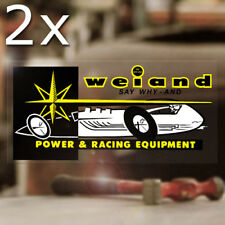 2x pieza Weiand Power Race Pegatina Sticker dragster Hot Rod dragracing Racing