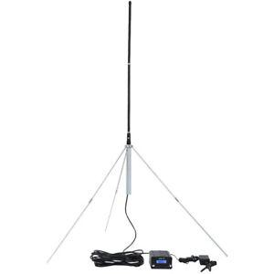 1/4 Aluminum Alloy 87-108MHZ GP Antenna Outdoor for 5-150W FM Transmitter Radio