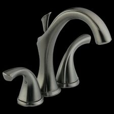 Delta 4592-PT Addison Two Handle Mini-Widespread Lavatory Faucet, Aged Pewter