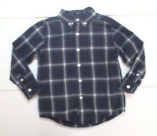 Boys Gymboree All Spruced Up Blue Plaid Slim Fit Button Down Dress Shirt Size 4