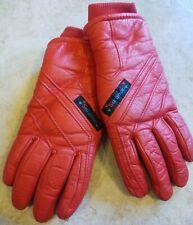 New listing Saranac Vintage Red Gloves Winter Ski Snowboard womens Medium warm! 80s