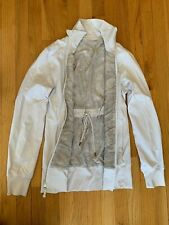 Lululemon Raja Jacket, Size 6, White/Grey, Luxtreme and mesh, Reversible.